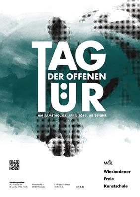 Tag der offenen tür plakat design  Wiesbadener Freie Kunstschule